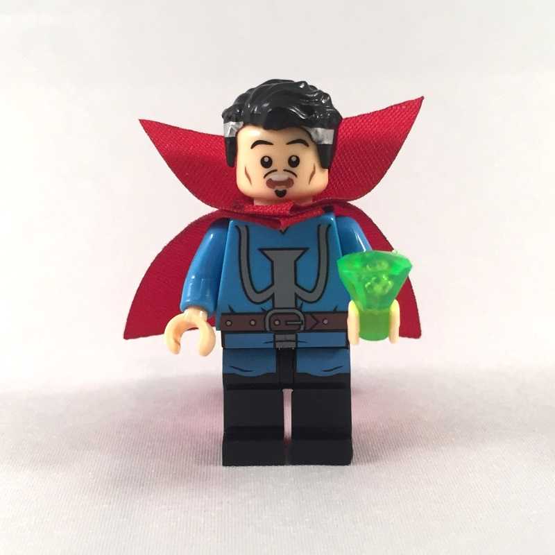 Dr Strange LEGO Minifig with Gem accessory