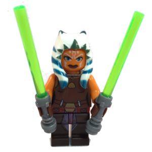 Ahsoka Tano Star Wars LEGO Minifig Star Wars Clone Wars - Front