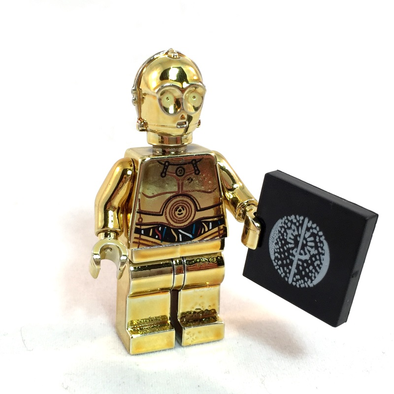 C-3PO LEGO Minifig Star Wars Gold - Front
