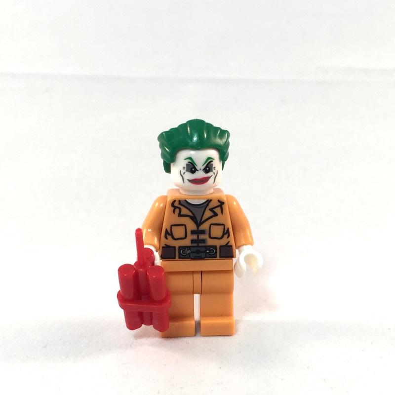 LEGO Batman Minifig - Joker Prison Outfit - Face 2