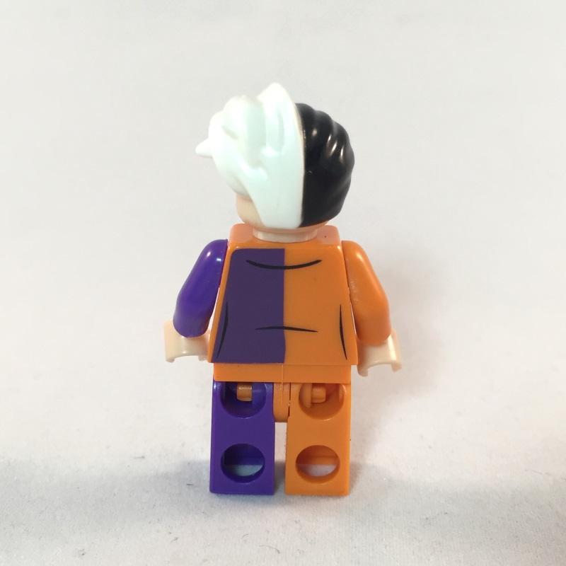 LEGO Batman Minifig - Two Face Prison Outfit - Back