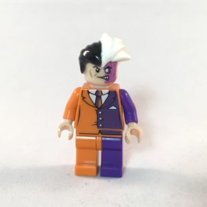 LEGO Batman Minifig - Two Face Prison Outfit - Front