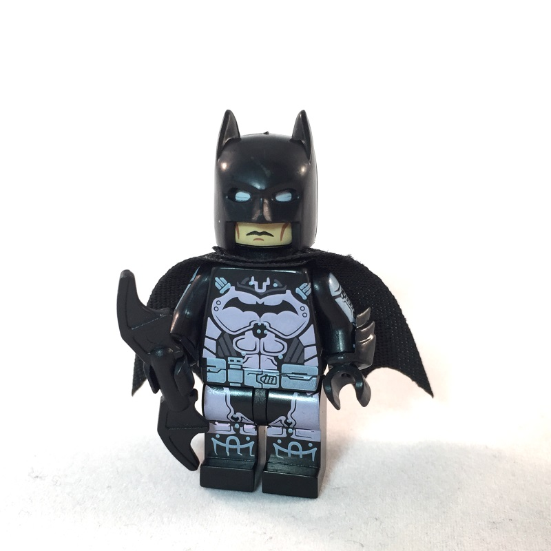 The Batman Movie Minifig // Mini Figure Batman w// Batski LEGO NO STICKERS