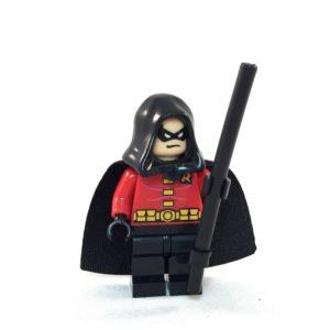 Robin LEGO Minifig Damien Wayne - Face 1