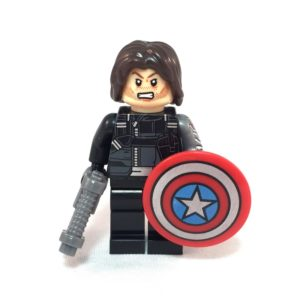 Winter Solider LEGO Minifig Civil War - Face 1